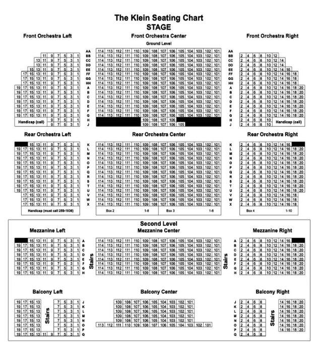 Our Venue Upcoming Events Seating Chart